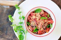 Salada de cuscus com beterraba e manjericão Dieta das Princesas