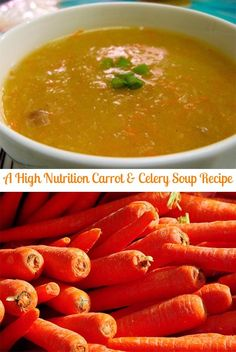 Carrot soup is a great way to get your beta-carotene and other health nutrients. The way I like to make it is really quick and simple and has other very he