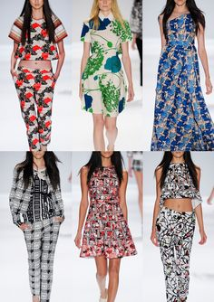 New York Fashion Week – Spring/Summer 2014 – Print Highlights – Part 2 catwalks