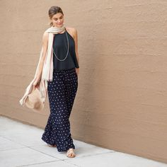 I do like this look but unsure how to wear the pants right. Do try bohemian-approved palazzo pants. See 9 more spring tips to try now. Boho Fashion, Spring Fashion, Fashion Outfits, Casual Outfits, Cute Outfits, Stitch Fit, Stitch Fix Outfits, Stitch Fix Stylist, Dress To Impress