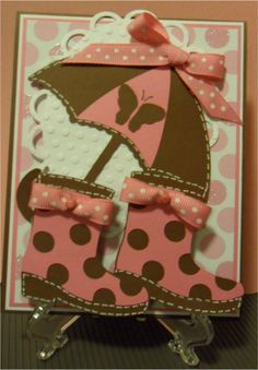 I love the ribbon on the boots! (cute for a get well card)