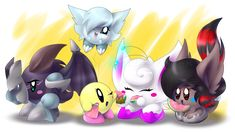 qwq Belle by ©Spookythedragon Shiny by Shadow-Knight by ©Maniactheleader Vantablack, Neon by ©~Wol.:The last Sommer-Watermelon Meeting:. Kirby Character, My Images, Sonic The Hedgehog, Watermelon, Knight, Deviantart, Artist, Cute, Fictional Characters
