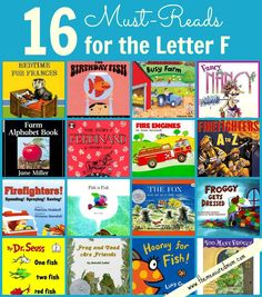 Such a great list of picture books - whether or not you're learning about letter F!