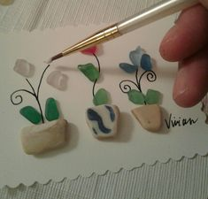 Creating Sea Glass Art by Vivian #seaglassart