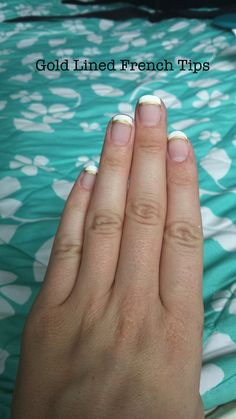 Matte finish gold-lined French. My go-to basic. Nail design #1!
