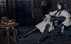 Alexander McQueen AW14 Campaign featuring Edie Campbell. Photographed by Steven Klein