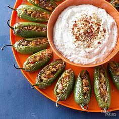 If you want a sauce to serve with these Mexican bites, thin one 8-ounce carton of sour cream with a little milk and stir in 1/2 cup ground toasted almonds or pecans, a squeeze of lime juice, and a pinch of ground cinnamon.