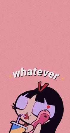 Pink Wallpaper Cartoon, Powerpuff Girls Wallpaper, Mood Wallpaper, Retro Wallpaper, Cute Cartoon Wallpapers, Wallpaper Iphone Cute, Wallpaper Quotes, Pattern Wallpaper, Hipster Wallpaper