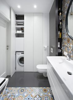 Little shower room concepts to optimize your tiny space. Although with a tiny si… Little shower room concepts to optimize your tiny space. Although with a tiny size we will … Laundry Bathroom Combo, Small Bathroom Cabinets, Modern Laundry Rooms, Laundry Room Bathroom, Bathroom Toilets, Laundry Room Design, Bathroom Layout, Bathroom Interior Design, Bathroom Storage
