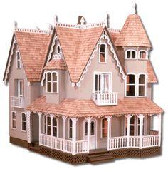 """Poppenhuis bouwpakket """"The Garfield"""" is een model uit de Greenleaf kollektie."""