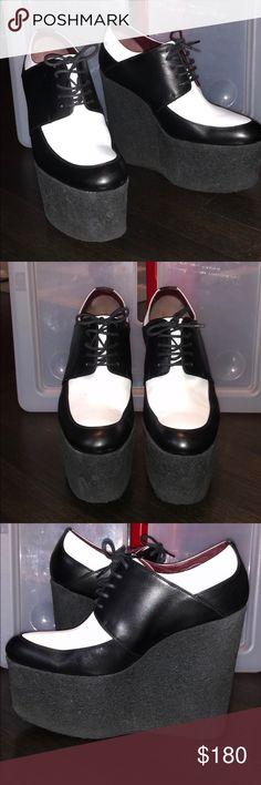 I just added this listing on Poshmark: Celine Fabiola Platform Heels in Black and White. #shopmycloset #poshmark #fashion #shopping #style #forsale #Celine #Shoes