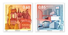 Luxembourg postage stamps by Linda Bos, via Behance
