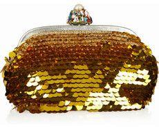 Dolce & Gabbana Paillette-embellished crocheted frame clutch on bagservant.co.uk