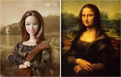 barbies and art