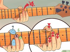 3 Ways to Be a Good Guitar Player - wikiHow Music Theory Guitar, Music Guitar, Playing Guitar, Ukulele, Srv Guitar, Guitar Chord Chart, Guitar Bag, Learning Guitar, Art Music
