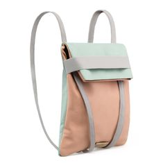 BackPack in Leather | lighter and soft colors | Reversible bag