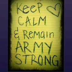 Army Wife Army Strong for my momma & daddy