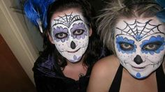 Day of dead Day Of The Dead, Halloween Face Makeup, Costumes, Painting, Day Of Dead, Dress Up Clothes, Fancy Dress, Painting Art, Paintings