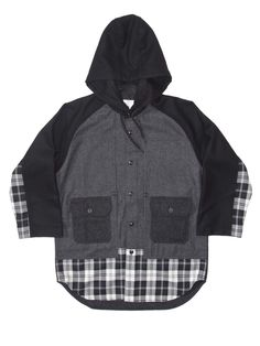 Ganryu | Mixed Wool Hooded Shirt