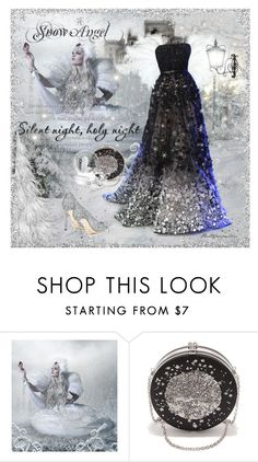 """""""S- Snow Angel"""" by prettyasapicture ❤ liked on Polyvore featuring Elie Saab, Alexander McQueen and Jimmy Choo"""