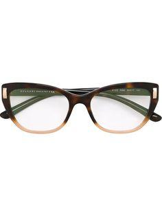 df7650554945 BULGARI cat eye frame glasses.  bulgari  猫眼框眼镜 Brown Glasses