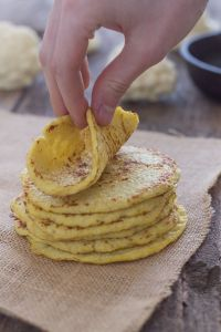 These look delicious!  how to make gluten free cauliflower tortillas