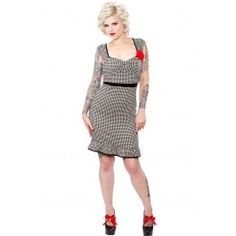"""Someday I will be able to """"wiggle"""" into this-Houndstooth Wiggle Dress"""