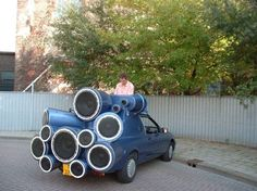 Suppose there is at least one speaker in the car?