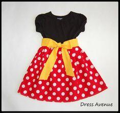 Minnie dress**Mickey Mouse dress**Toddler girls dress**Black, red polka dots, yellow sash**Dress for Disney World**Minnie Mouse dress Mickey Mouse Dress, Minnie Dress, Pink Minnie, Toddler Girl Dresses, Little Girl Dresses, Girls Dresses, Toddler Girls, Trendy Dresses, Nice Dresses