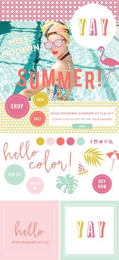 Yay Summer! It's finally here, and it's time to add some pop to your online life. We whipped up this juicy little design kit in the studio, so you can have some summer fun at work! Creamy pastels, flamingos, ice cream and watermelon work alongside our social media buttons, call-to-action badges and more to brighten […]