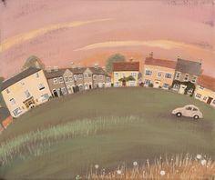 Homes & Gardens Portfolio | Lucy Grossmith | Heart To Art Cottage Art, English Artists, Naive Art, Whimsical Art, Artist At Work, Prints For Sale, Landscape Art, Home Art, Amazing Art