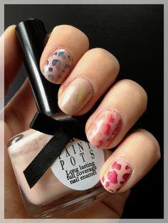 Rainbow stamping nail art