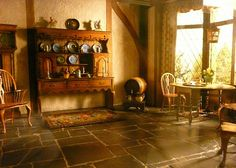 Art Institute ~ Thorne Miniature Rooms - English Cottage Kitchen of the Queen Anne Period, 1702-14 by army.arch, via Flickr