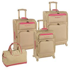 TOMMY BAHAMA MAMA CHAMPAGNE BRIGHT PINK 4 PIECE SPINNER LUGGAGE SET $1280 VALUE in Travel,Luggage, | eBay