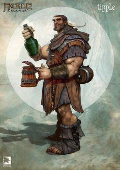 ArtStation - Tipple, Fable Legends hero, Mike McCarthy