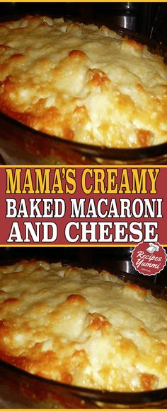 Mama's Creamy Baked Macaroni And Cheese Creamy Baked Macaroni And Cheese Recipe, Bake Mac And Cheese, Creamy Mac And Cheese, Macaroni Recipes, Mac Cheese, Pasta Recipes, Macroni And Cheese, Fast Easy Meals, Pasta Dishes