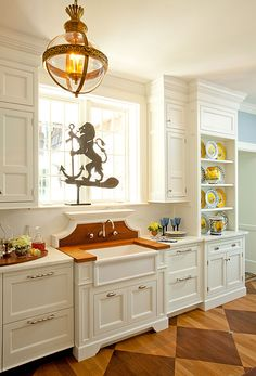 white kitchen by windham house amazing light fixture corezze wall mounted faucet luberon - French Kitchen Sinks