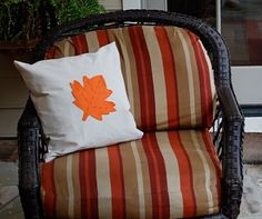 Autumn pillow for a porch or a living room