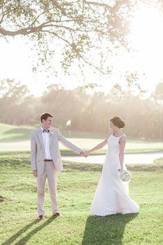 golf course bride and groom portraits / vitalicphoto.com