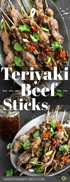 Who can resist tender grilled beef on a stick? This recipe for Teriyaki Beef Sticks combines tender marinated beef with a sweet and savoury Honey based Teriyaki Sauce. Grill it up for dinner in minutes. Healthy Beef Recipes, Healthy Meal Prep, Easy Chicken Recipes, Asian Recipes, Vegetarian Recipes, Kabob Recipes, Shellfish Recipes, Beef Recipes For Dinner, Meat Recipes