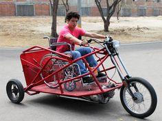 Crean ingenioso trimóvil para personas discapacitadas