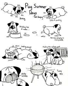 Bah Humpug: Pug Summer Days