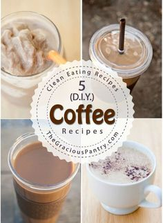 5 D.I.Y. Coffee Recipes! Save money by making these expensive coffee house drinks at home! COFFEE : More At FOSTERGINGER @ Pinterest