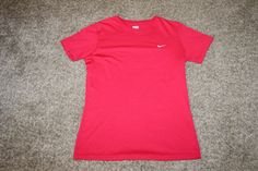 Nike Fit Dry Women's Red Athletic Yoga Workout Top Size Medium (8-10) #Nike #ShirtsTops