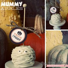 Easy Halloween treat - Mummy Apples