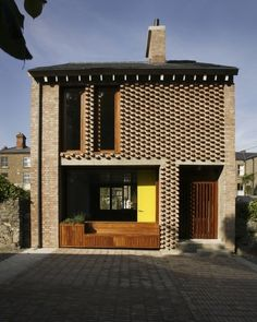 House 1 and House 2 by TAKA Architects, Dublin, Ireland Modern Brick House, Brick House Designs, Brick Design, Brick Houses, Architecture Ireland, Architecture Design, Contemporary Architecture, Contemporary Homes, Brick Facade