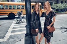 Roos Abels and Lexi Boling star in Mango's fall-winter 2016 campaign