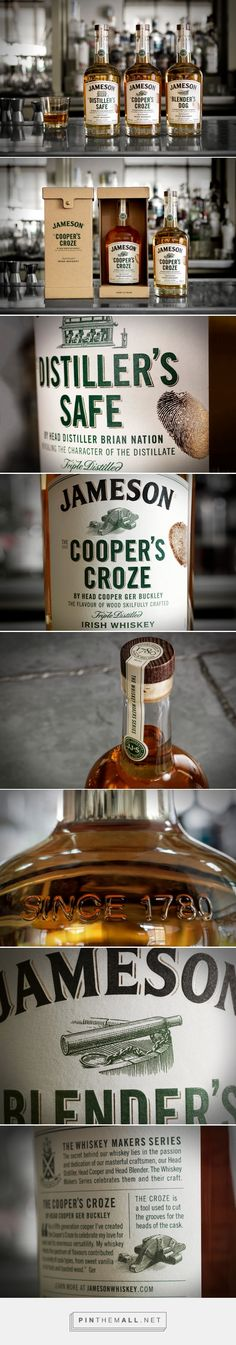 Jameson Whiskey – The Whiskey Makers Series packaging design by Pond Design - http://www.packagingoftheworld.com/2017/01/jameson-whiskey-whiskey-makers-series.html