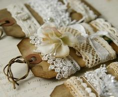 vintage-good way to keep ribbons in groupings ie- colors or styles- prints-lace etc.