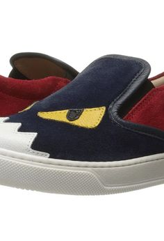 Fendi Kids Slip-On Monster Sneakers (Little Kid/Big Kid) (Blue/Red) Boys Shoes - Fendi Kids, Slip-On Monster Sneakers (Little Kid/Big Kid), JUR019 J3E-F0ZB1, Footwear Closed Slip on Casual, Slip on Casual, Closed Footwear, Footwear, Shoes, Gift, - Fashion Ideas To Inspire